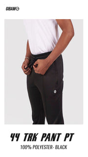 44 Polyester Black Patch Logo Track Pant PT