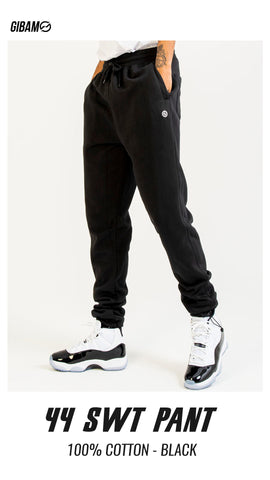44 Cotton Black Patch Logo Sweatpant