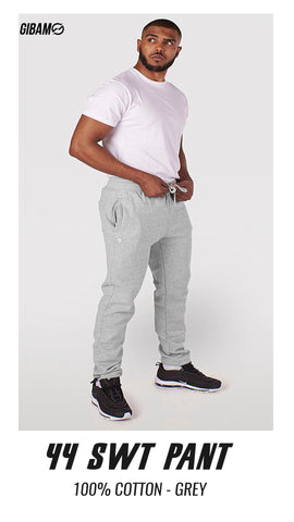 44 Cotton Grey Patch Logo Sweat Pant