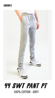 44 Cotton Grey Patch Logo Sweat Pant PT