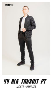 44 Polyester Black Patch Logo Tracksuit PT