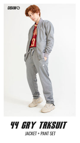 44 Polyester Grey Patch Logo Tracksuit