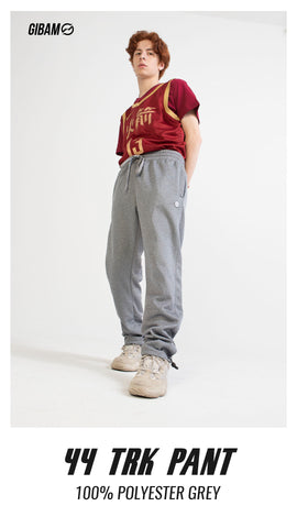 44 Polyester Grey Patch Logo Trackpant