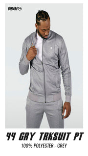 44 Polyester Grey Patch Logo Tracksuit PT