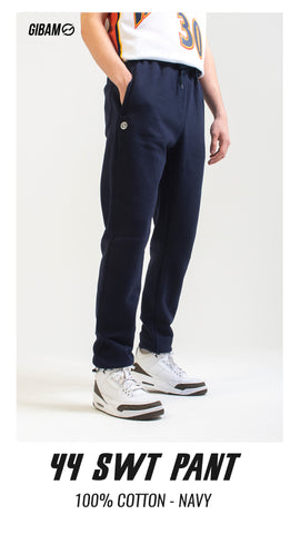 44 Cotton Navy Patch Logo Sweatpant