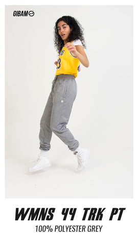 Womens 44 Polyester Grey Patch Logo Trackpant  PT