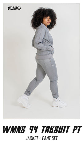 Womens 44 Polyester Grey Patch Logo Tracksuit PT