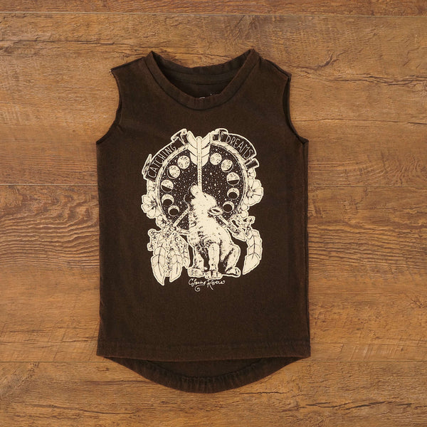 Last Chance (Size 1): Baby Howl Muscle Singlet- Black