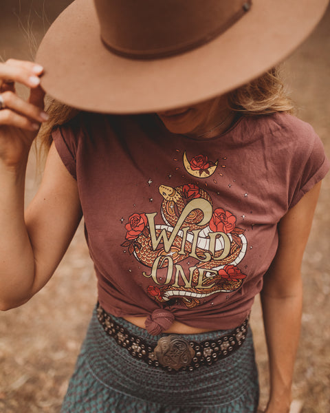 Ladies Wild One Tee - Acai