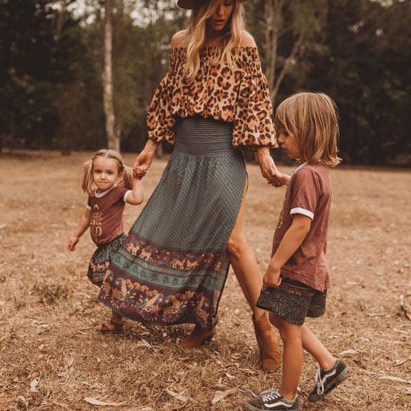 Organic Cotton Skirt - Panthera Forest