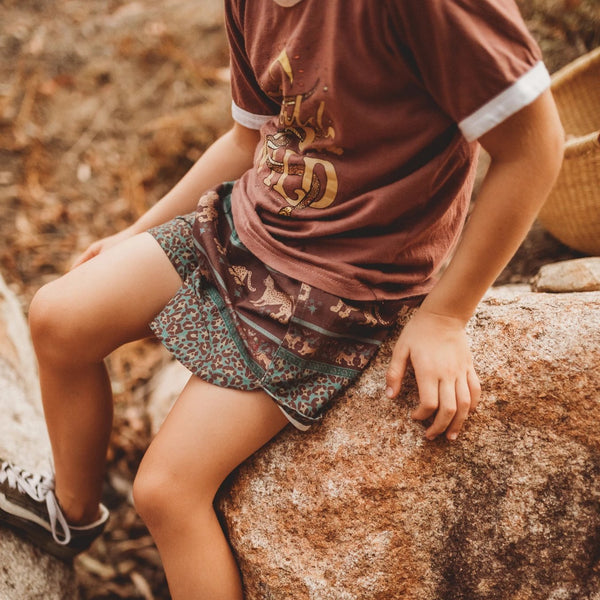 Organic Cotton Shorts - Panthera Forest