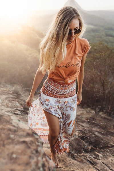 Seconds: Dune Dweller Rust Ladies Split Skirt - Second Release