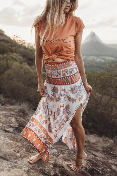 Dune Dweller Rust Ladies Split Skirt