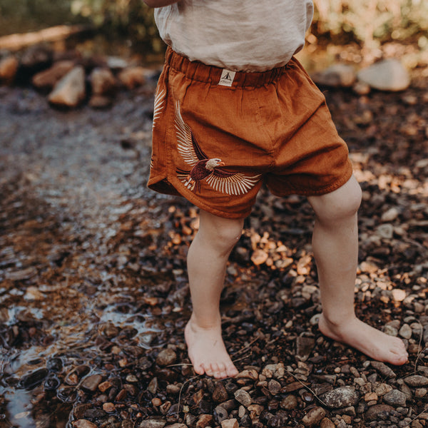 Organic Cotton Gauze Shorts - Wild Wonder