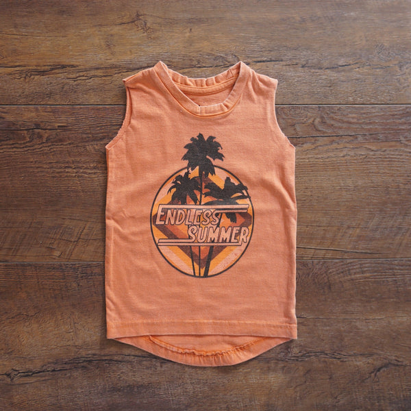 Endless Summer Muscle Singlet- Terracotta