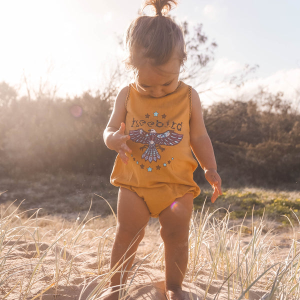 Freebird Bubble Romper - Golden