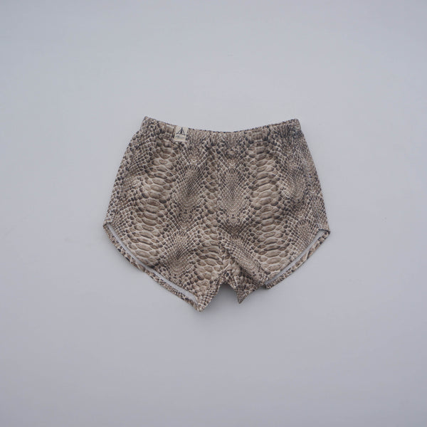 Organic Cotton Shorts - Python Neutral