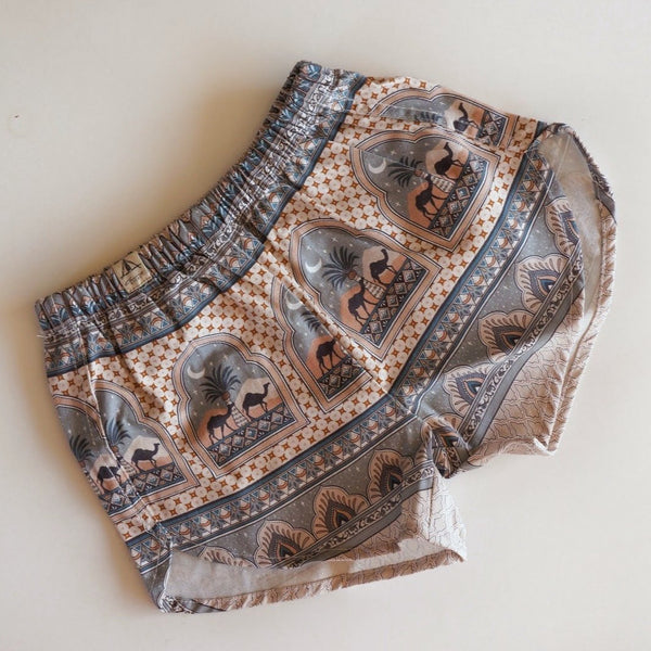 Organic Cotton Shorts - Diamond Skies Moonrise