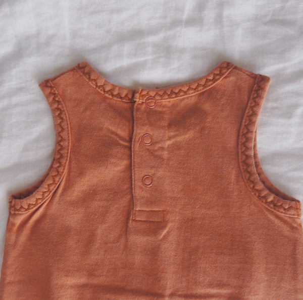 Endless Summer Bubble Romper - Terracotta