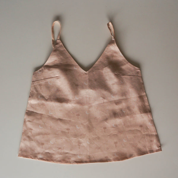 Ladies Linen Cami - Wild Abandon