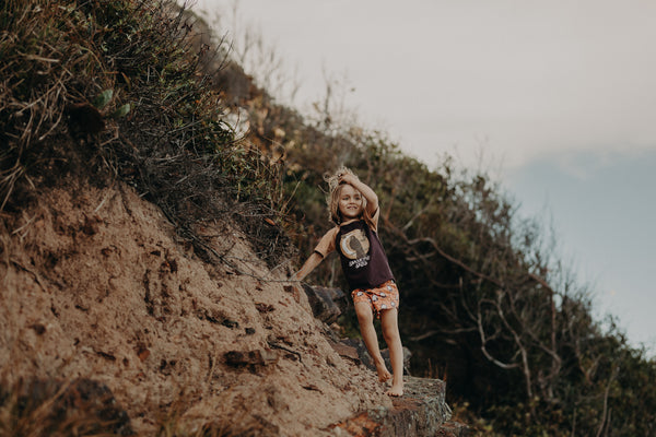 Organic Cotton Shorts - Wild & Free Rust