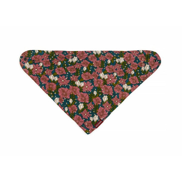 Bamboo Kerchief Bib in Teal Floral