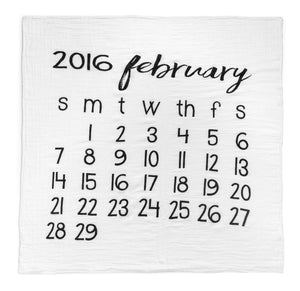 Organic Cotton Muslin Swaddle in Calendar Collection: February 2016