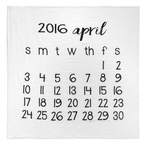 Organic Cotton Muslin Swaddle in Calendar Collection: April 2016