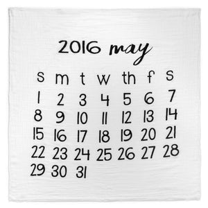Organic Cotton Muslin Swaddle in Calendar Collection: May 2016