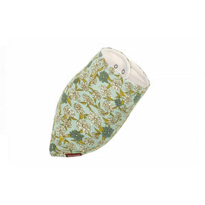 Bamboo Kerchief Bib in Blue Floral