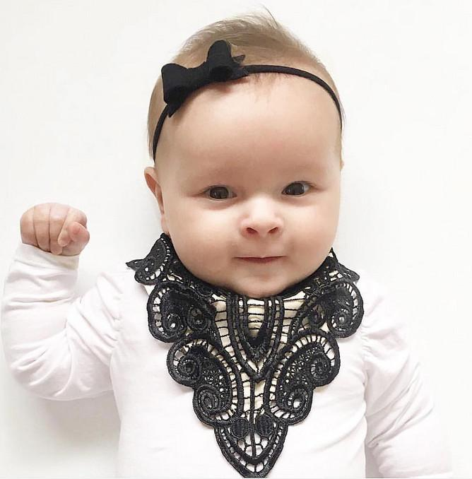 Black Lace Luxe Bib