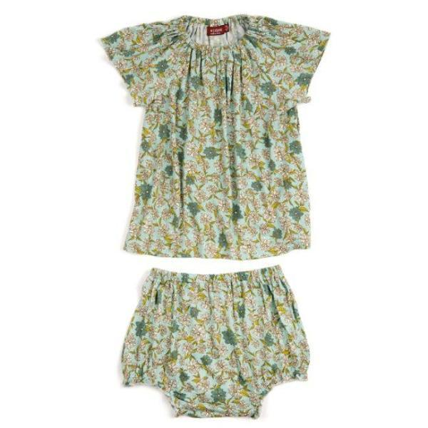 Bamboo Peasant Dress + Bloomer Set