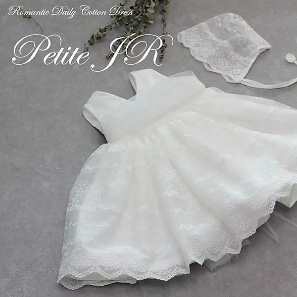 Pilar Marianna White Long Christening Dress