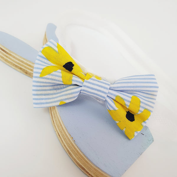 striped flower soft baby band