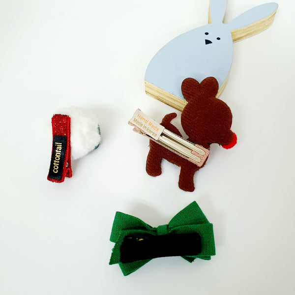 reindeer and tree non-slip tongs pin and pin set