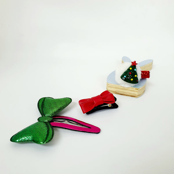 christmas tree non-slip tongs pin and tick pin set