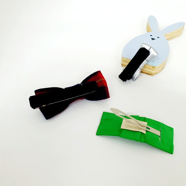 christmas bows non-slip tongs pin and tick pin set (3 set designs)