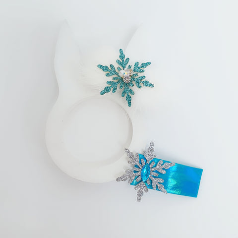 winter mink snowflake pin & pin set