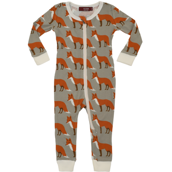 Organic Cotton Zippered Pajama