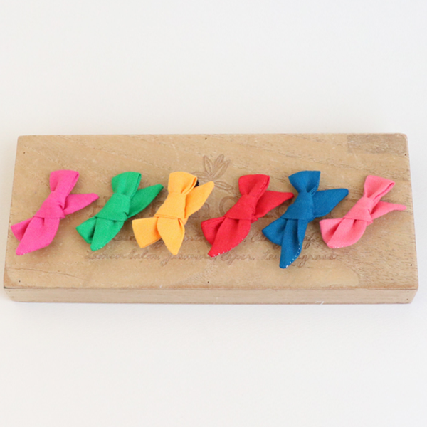 collar linen ribbon tongue pin (6 colours)