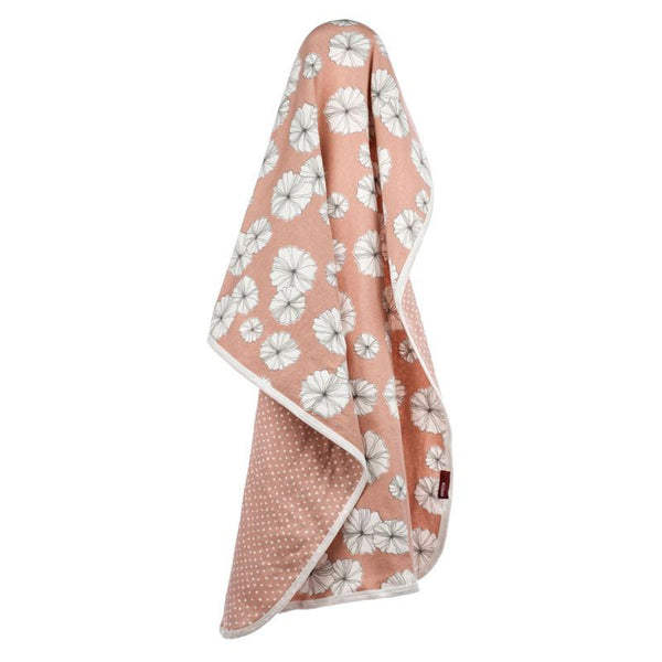 Organic Cotton Stroller Blanket in Rose Floral
