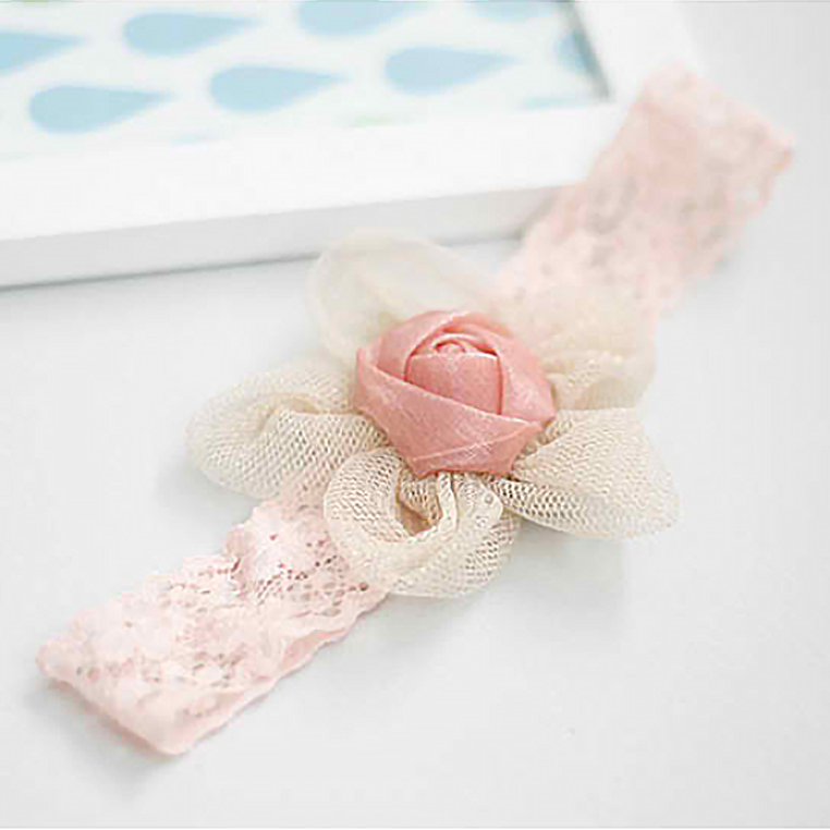 lace flower baby band