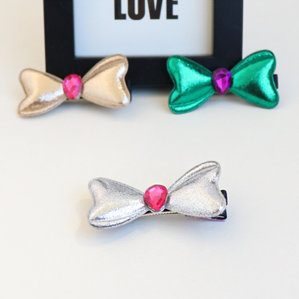 plump ribbon pearl clip (7 colours)