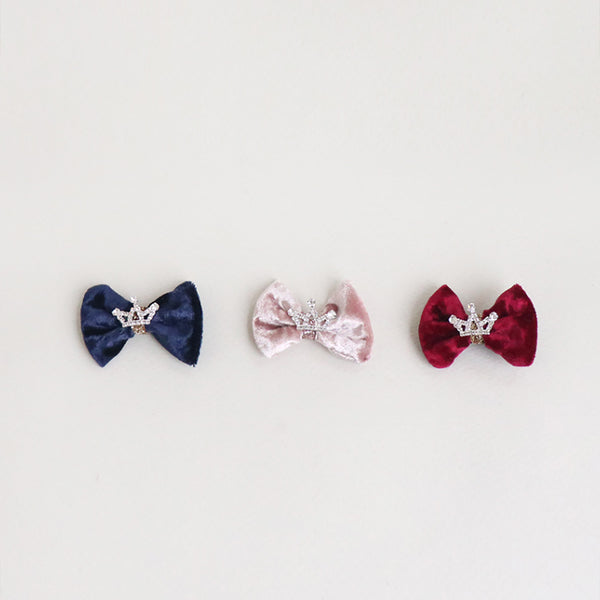 crown velvet ribbon non-slip pincers (3 colours)