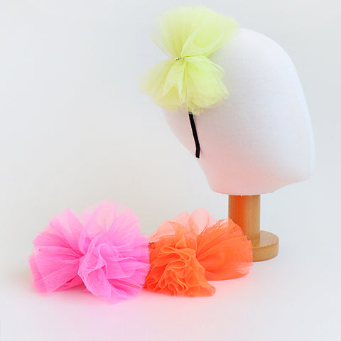 flourescent chiffon star headband (3 colours)