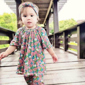 Bamboo Peasant Dress + Legging Set