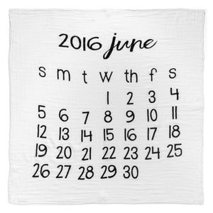 Organic Cotton Muslin Swaddle in Calendar Collection: June 2016