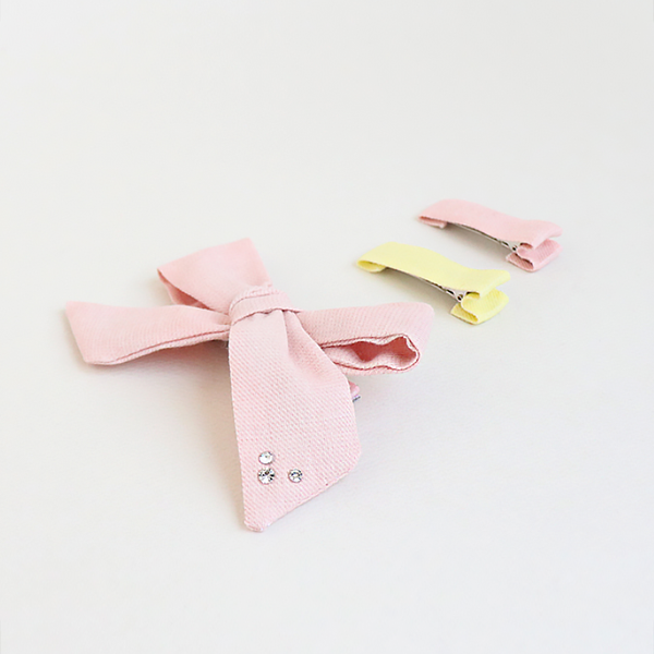 large indie pink tong pin clipset
