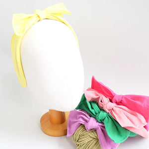 linen square ribbon headband (5 colours)