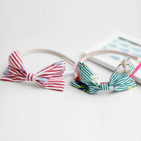 maran stripe ribbon headband (2 colours)